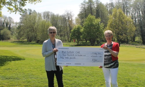 Over £3,500 raised by Stowmarket Golf Club Ladies Section